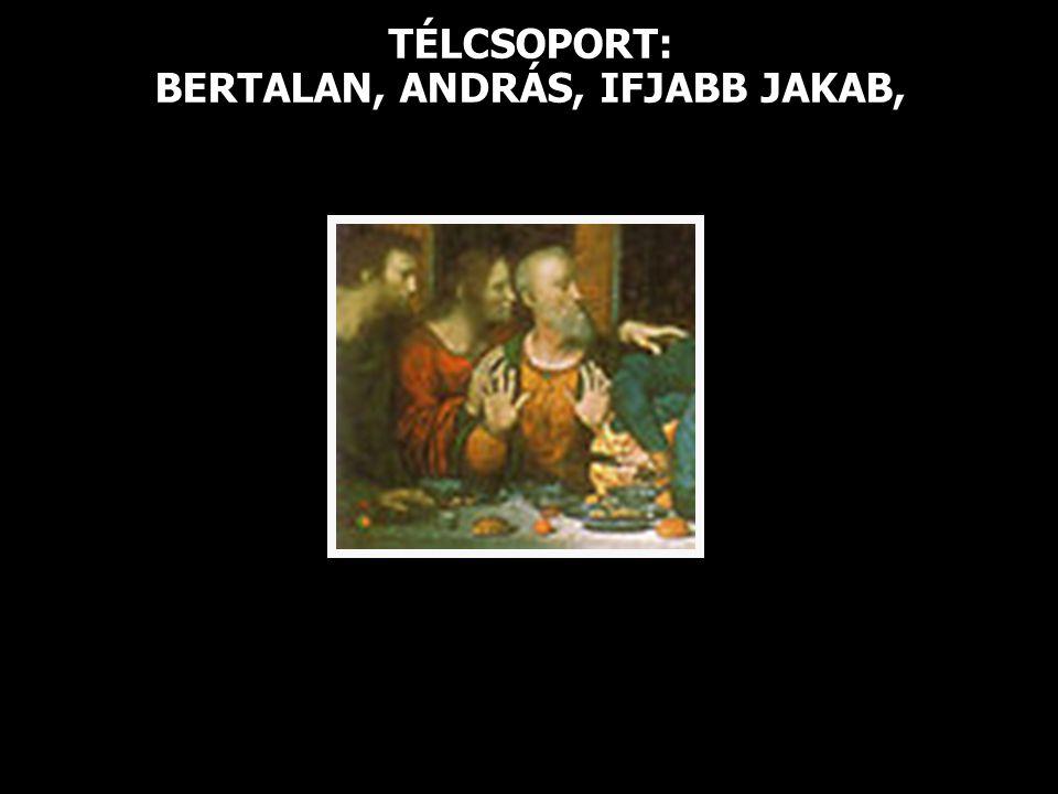 TÉLCSOPORT: BERTALAN, ANDRÁS, IFJABB JAKAB,