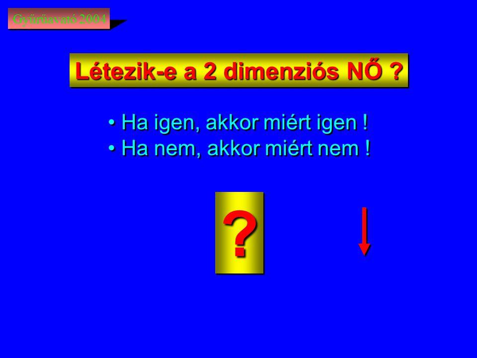 Létezik-e a 2 dimenziós NŐ Ha igen, akkor miért igen !