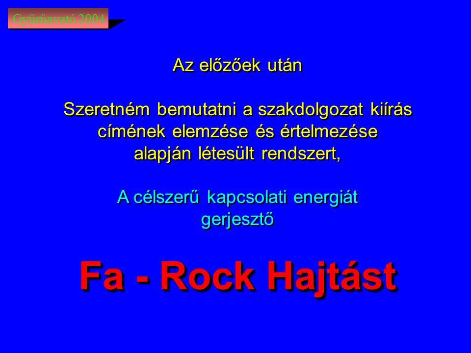 Fa - Rock Hajtást Az előzőek után