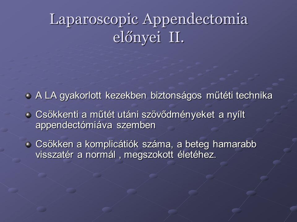 Laparoscopic Appendectomia előnyei II.