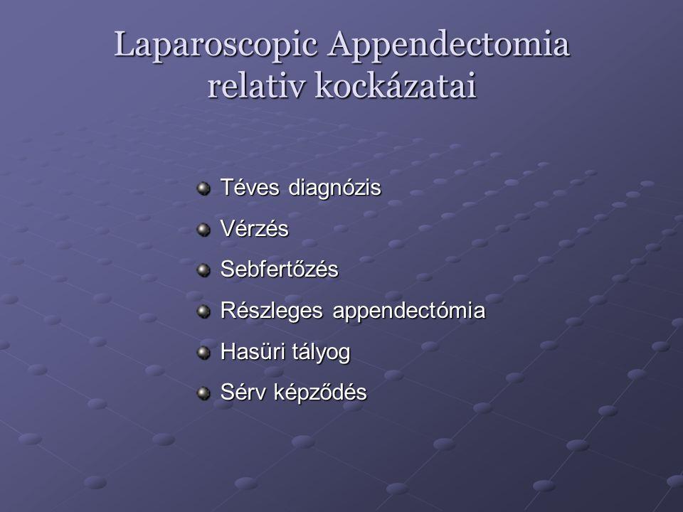 Laparoscopic Appendectomia relativ kockázatai