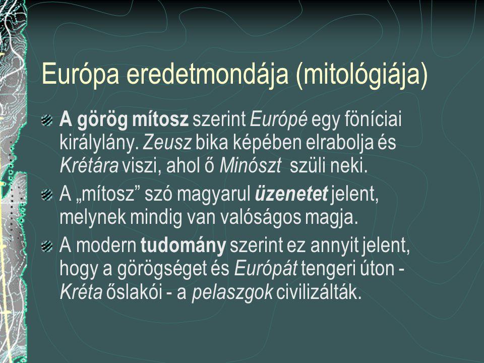Európa eredetmondája (mitológiája)