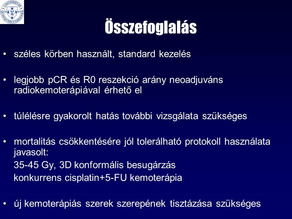 Összefoglalás széles körben használt, standard kezelés