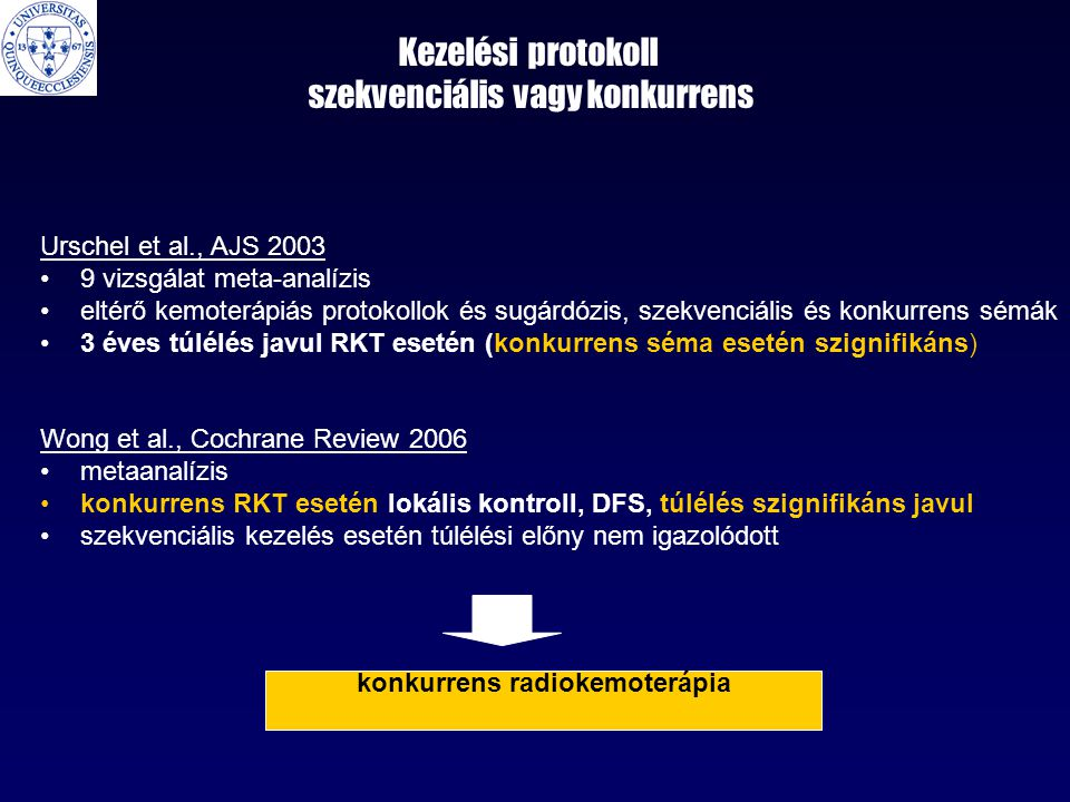 Kezelési protokoll szekvenciális vagy konkurrens