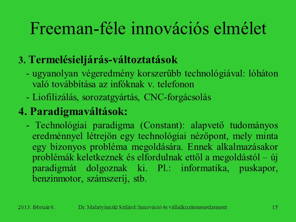 Freeman-féle innovációs elmélet