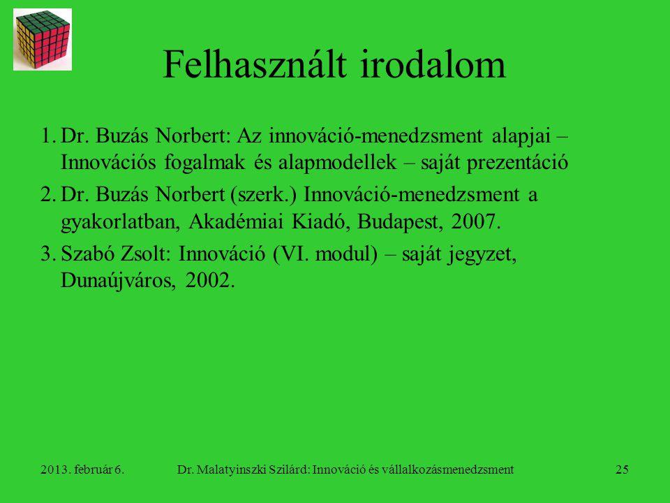 Dr. Malatyinszki Szilárd: Innováció és vállalkozásmenedzsment