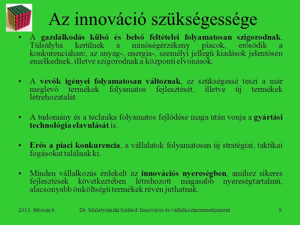 Az innováció szükségessége