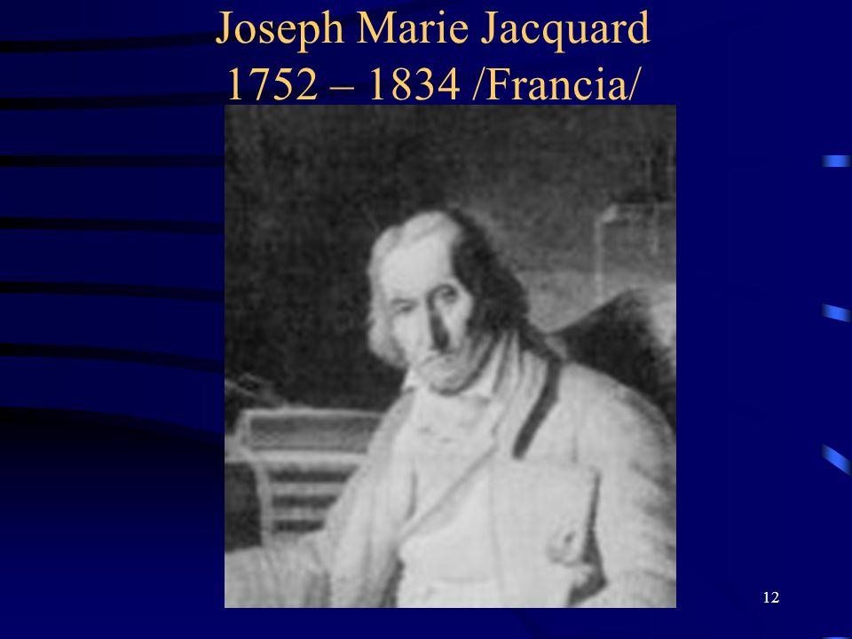 Joseph Marie Jacquard 1752 – 1834 /Francia/
