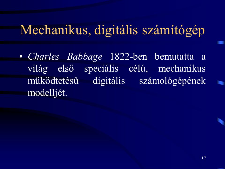 Mechanikus, digitális számítógép