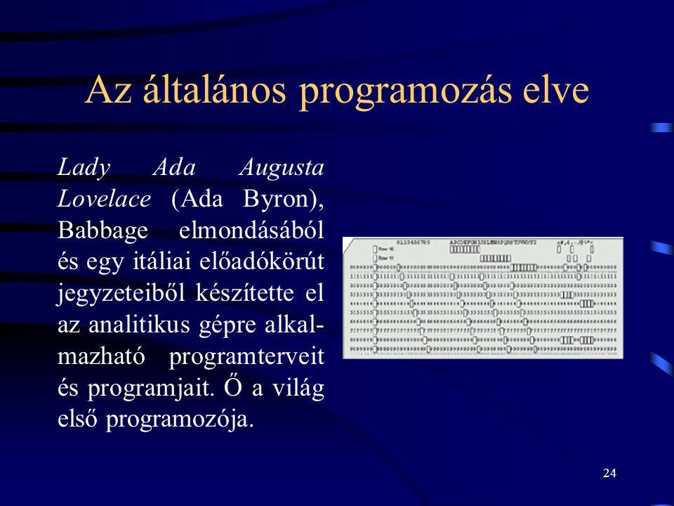 Az általános programozás elve