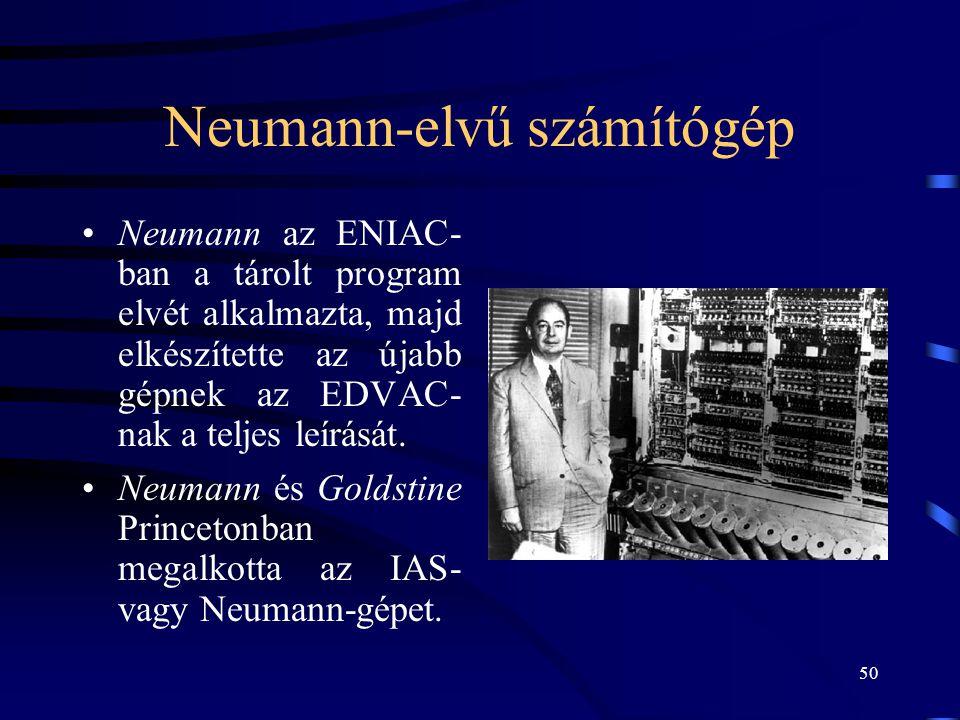 Neumann-elvű számítógép