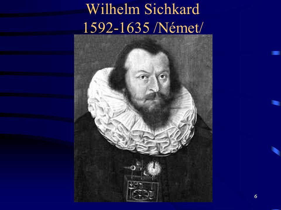 Wilhelm Sichkard 1592-1635 /Német/