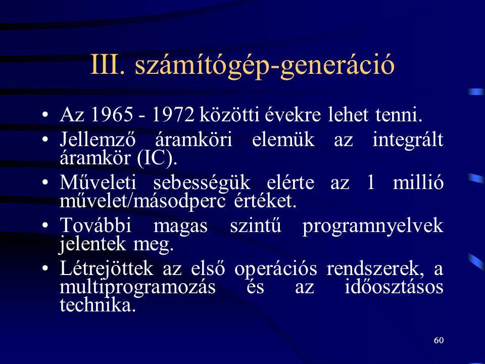 III. számítógép-generáció