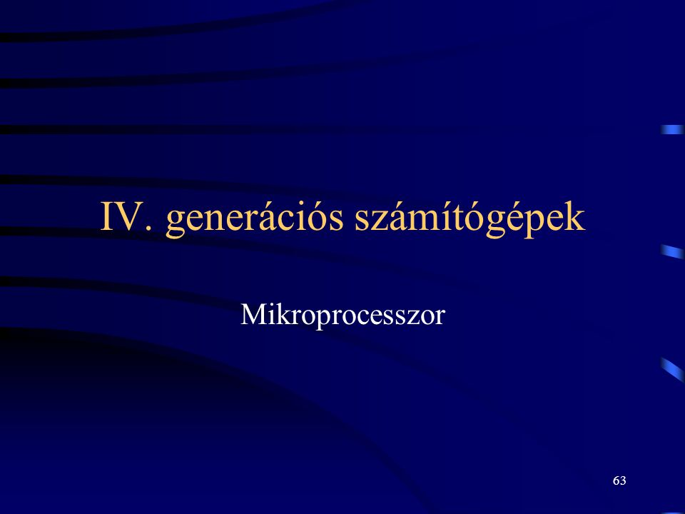 IV. generációs számítógépek