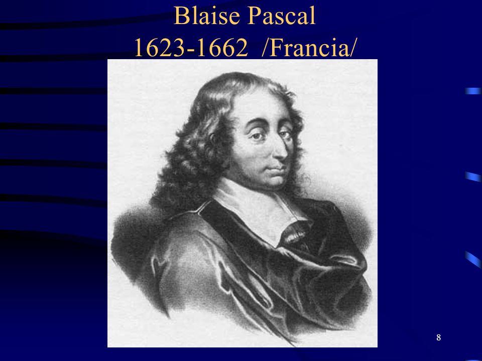Blaise Pascal 1623-1662 /Francia/