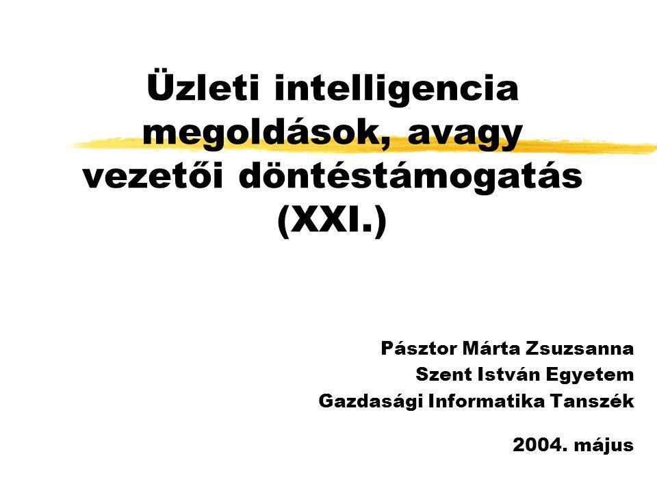 Üzleti intelligencia megoldások, avagy vezetői döntéstámogatás (XXI.)