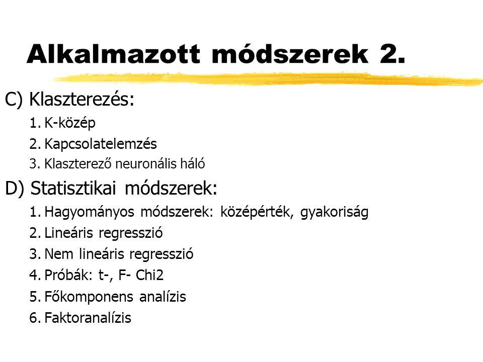 Alkalmazott módszerek 2.
