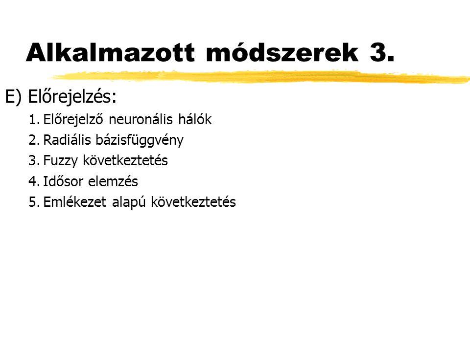 Alkalmazott módszerek 3.