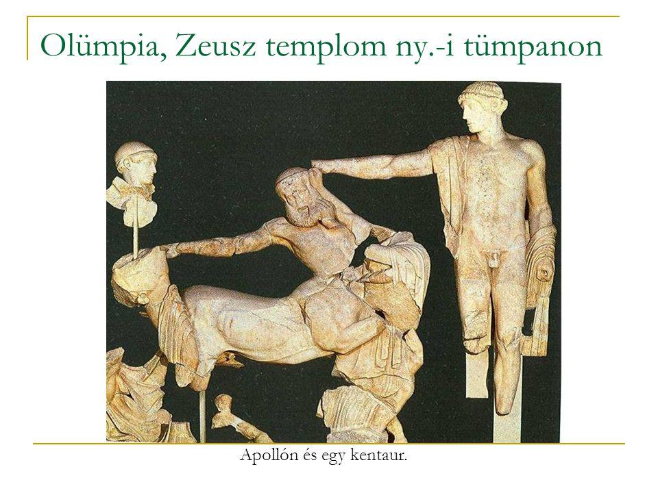 Olümpia, Zeusz templom ny.-i tümpanon