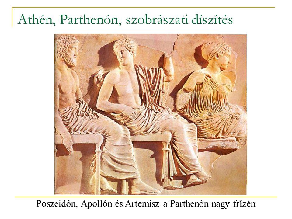 Athén, Parthenón, szobrászati díszítés