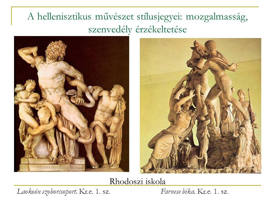 Laokoón szoborcsoport. Kr.e. 1. sz.
