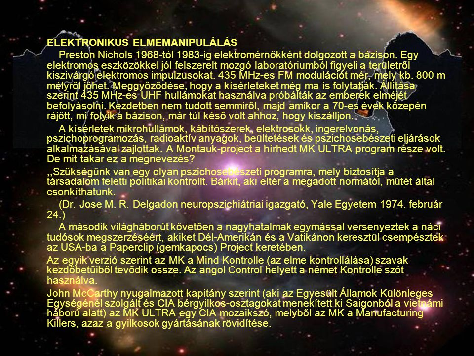 ELEKTRONIKUS ELMEMANIPULÁLÁS