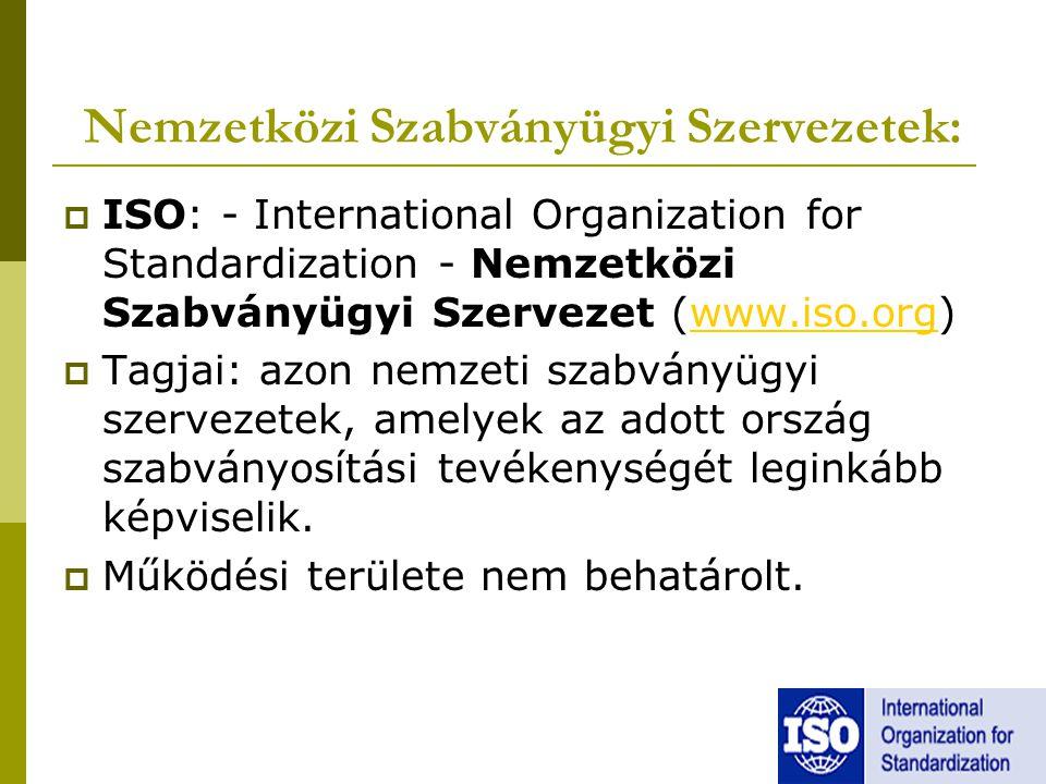Nemzetközi Szabványügyi Szervezetek: