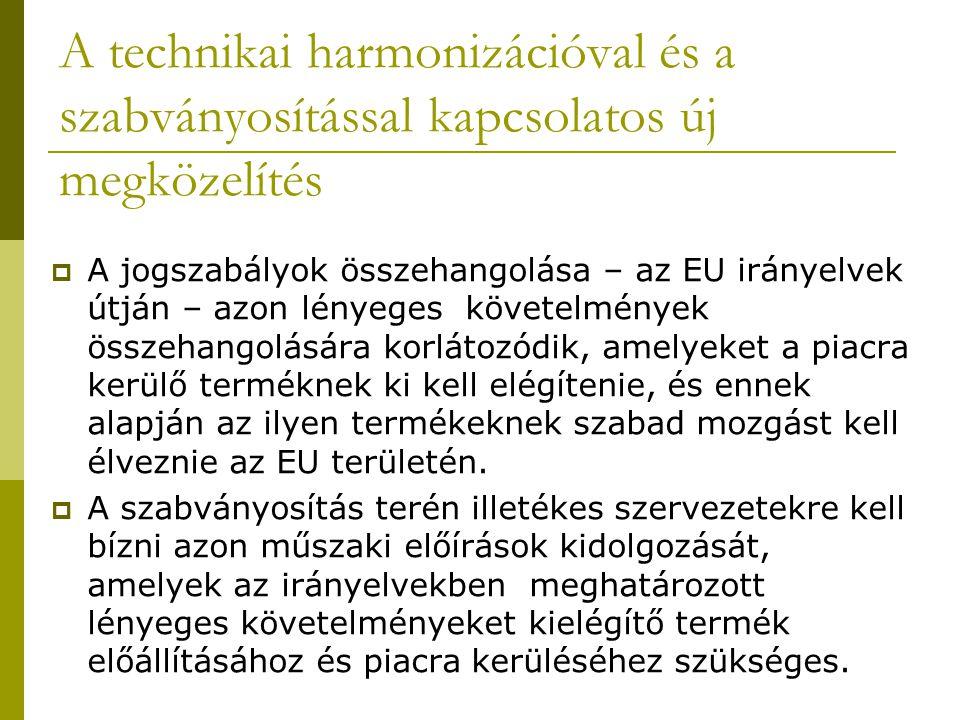 A technikai harmonizációval és a szabványosítással kapcsolatos új megközelítés