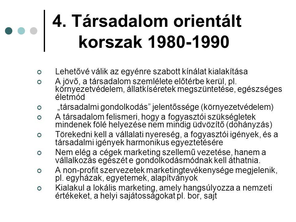 4. Társadalom orientált korszak 1980-1990