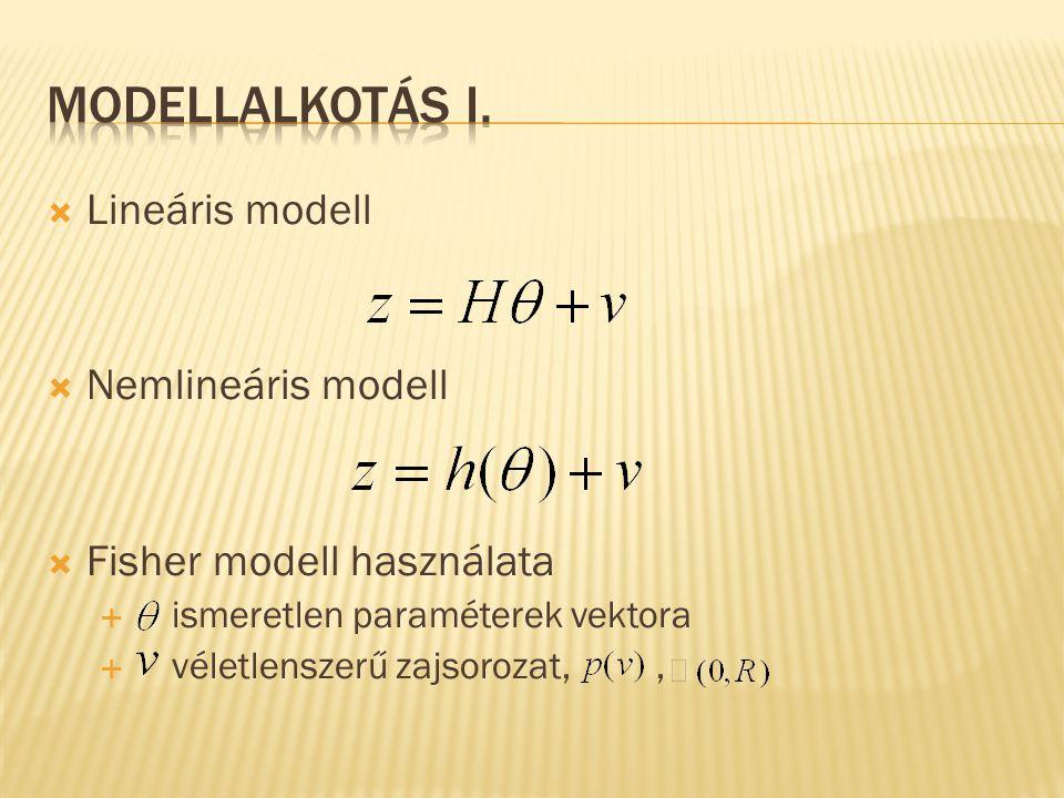 Modellalkotás I. Lineáris modell Nemlineáris modell