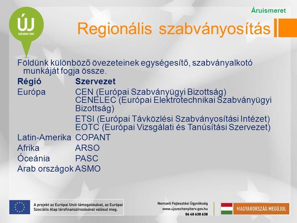Regionális szabványosítás