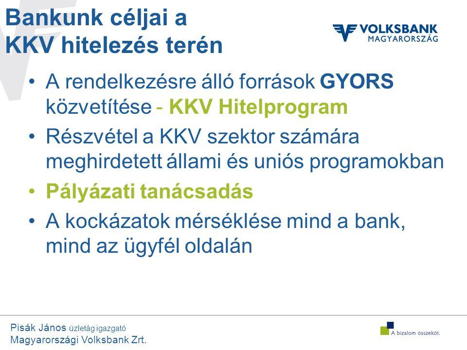 Bankunk céljai a KKV hitelezés terén