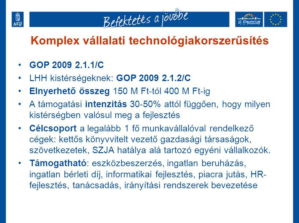 Komplex vállalati technológiakorszerűsítés