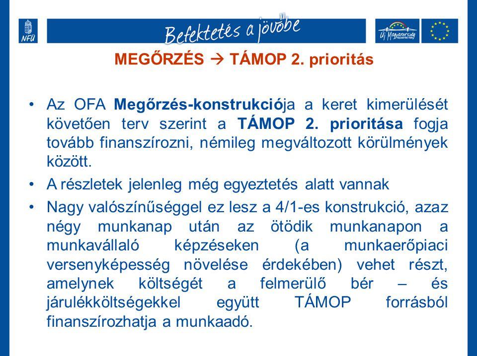 MEGŐRZÉS  TÁMOP 2. prioritás