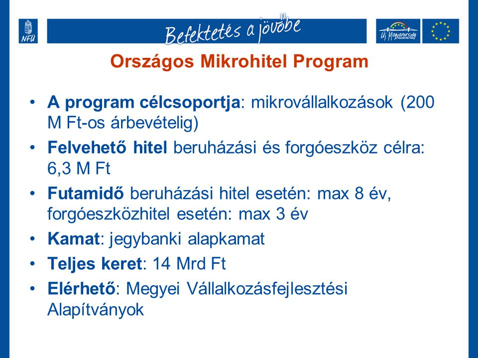 Országos Mikrohitel Program