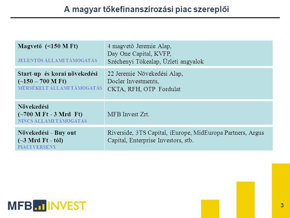 A magyar tőkefinanszírozási piac szereplői
