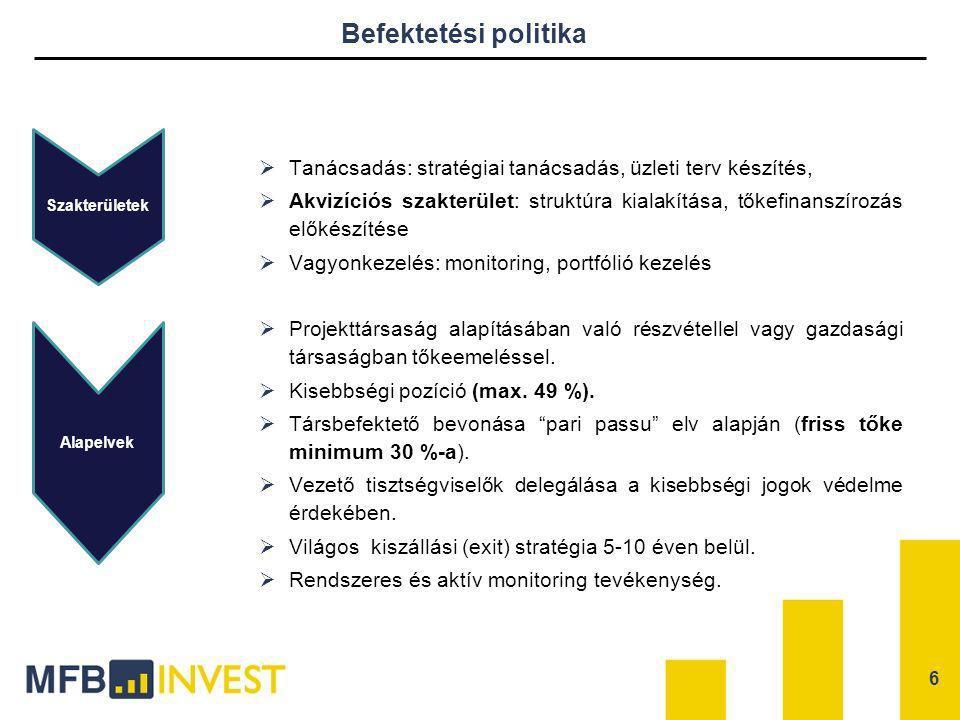 Befektetési politika Tanácsadás: stratégiai tanácsadás, üzleti terv készítés,
