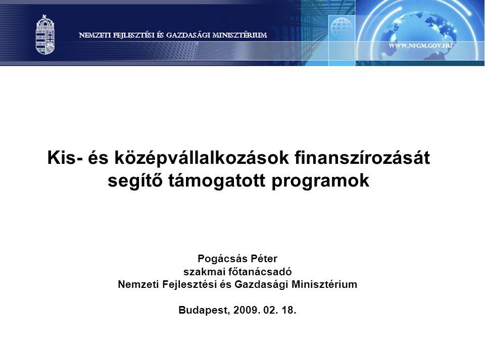 Kis- és középvállalkozások finanszírozását segítő támogatott programok