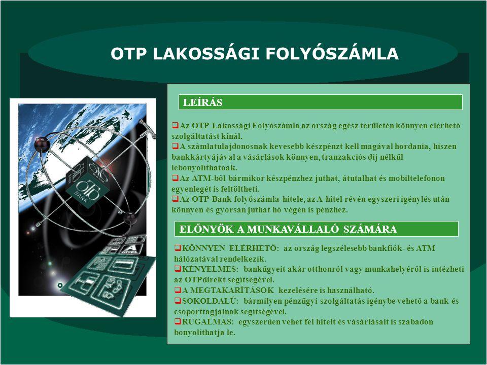 OTP LAKOSSÁGI FOLYÓSZÁMLA