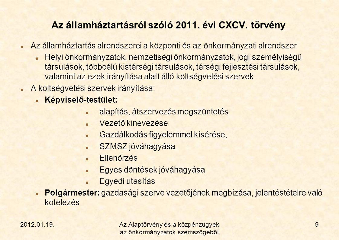 Az államháztartásról szóló 2011. évi CXCV. törvény