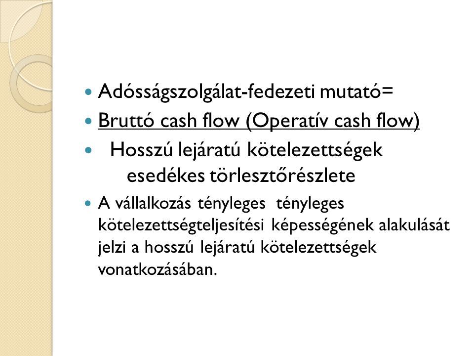 Adósságszolgálat-fedezeti mutató=