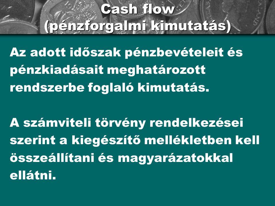 Cash flow (pénzforgalmi kimutatás)