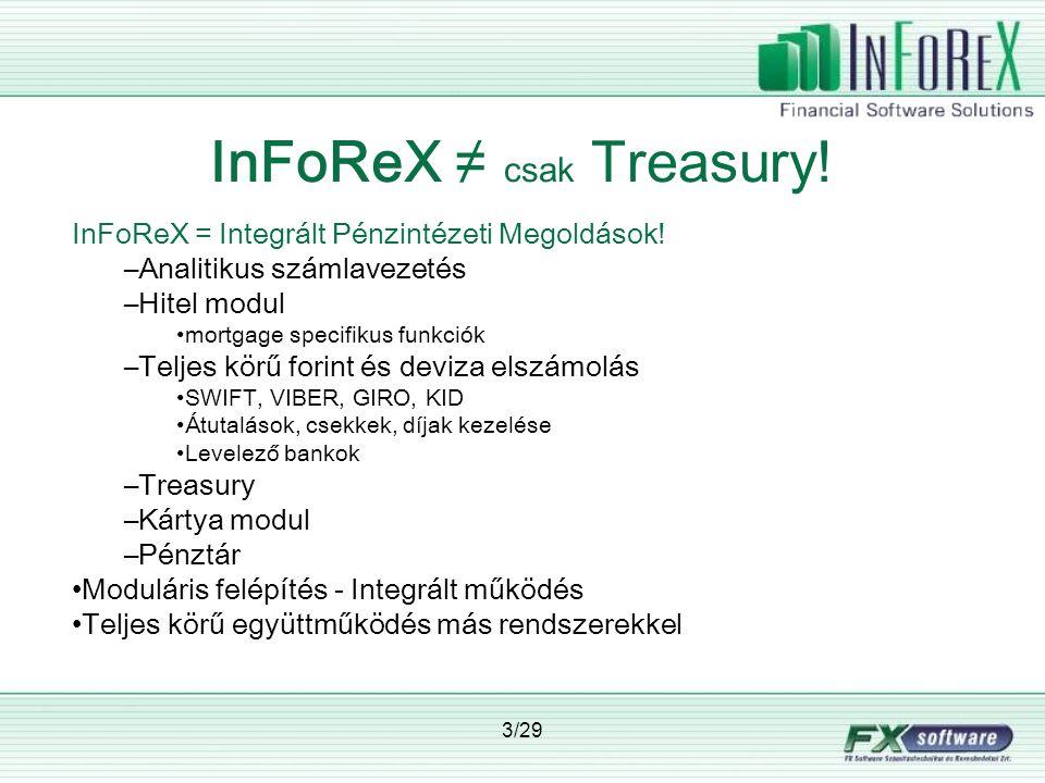 InFoReX ≠ csak Treasury!