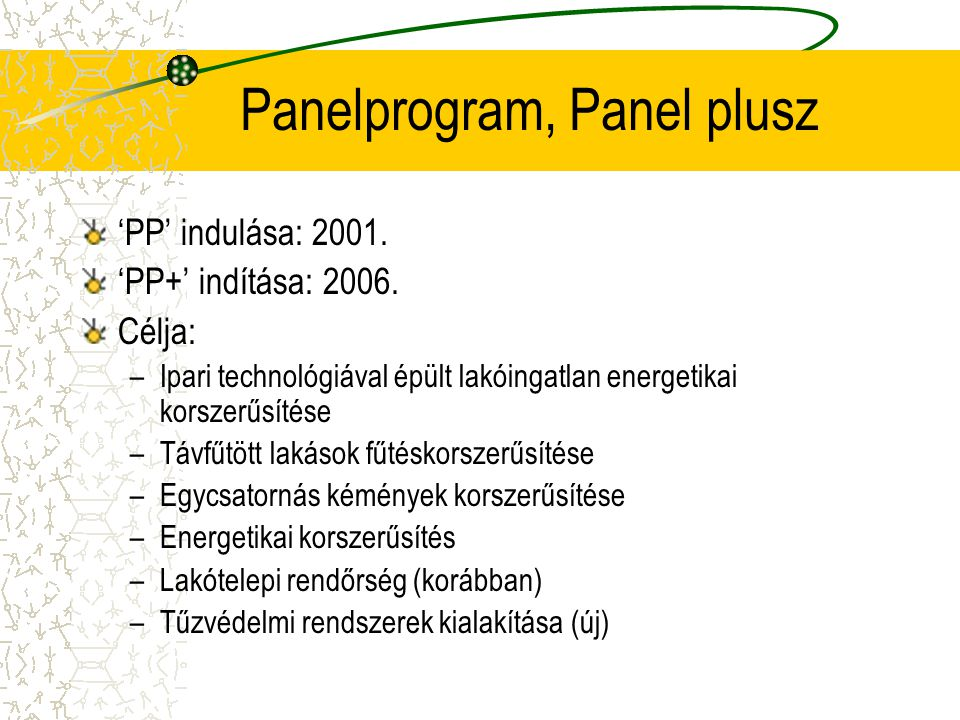 Panelprogram, Panel plusz