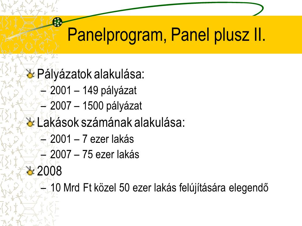 Panelprogram, Panel plusz II.