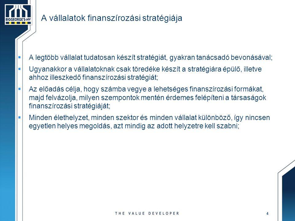 A vállalatok finanszírozási stratégiája