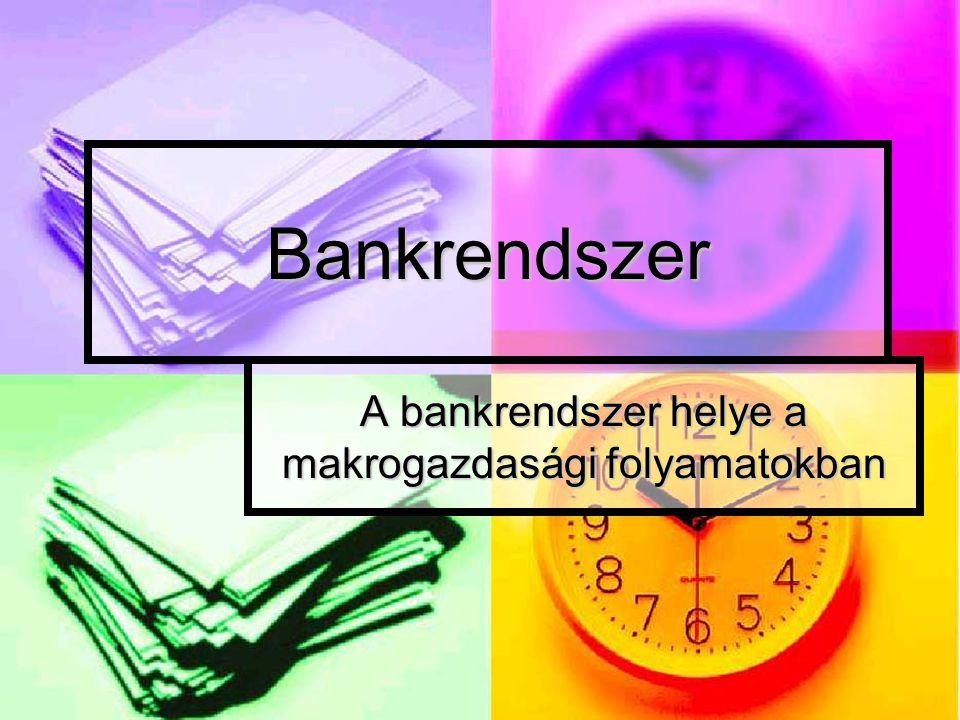 A bankrendszer helye a makrogazdasági folyamatokban