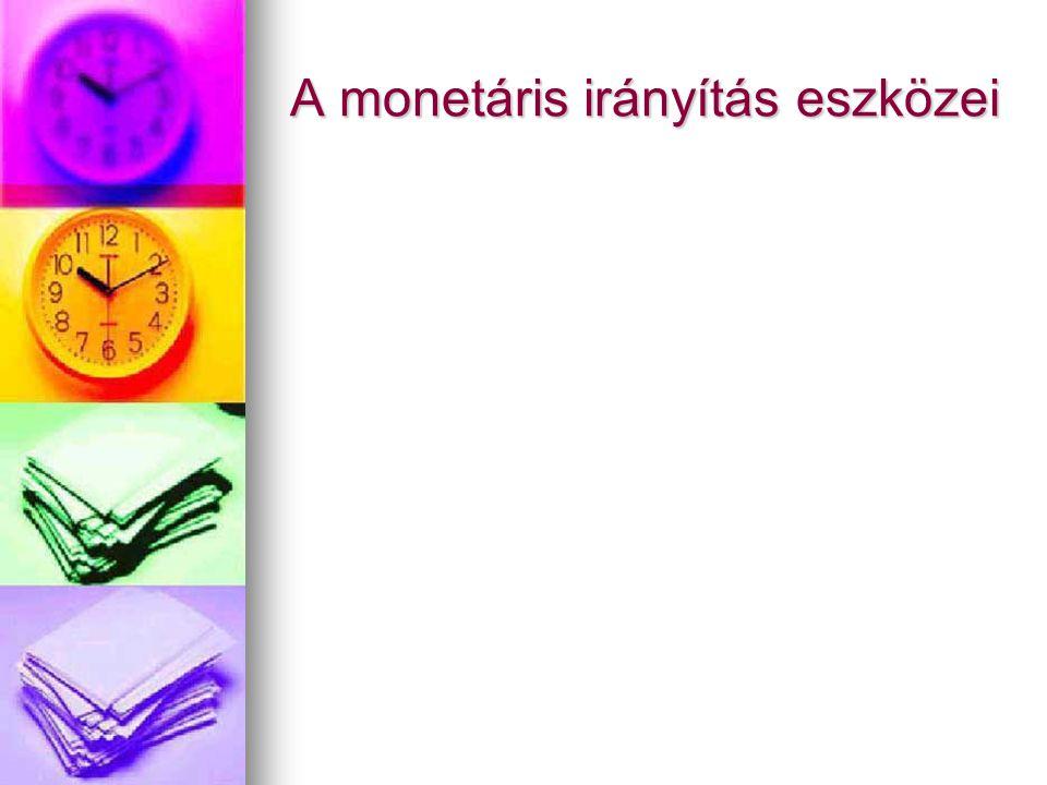 A monetáris irányítás eszközei