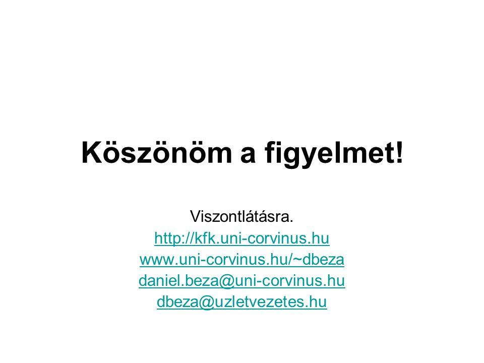 Köszönöm a figyelmet! Viszontlátásra. http://kfk.uni-corvinus.hu