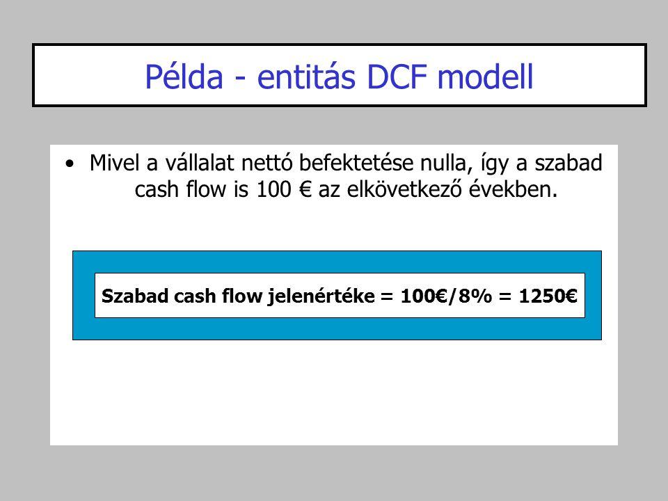 Példa - entitás DCF modell
